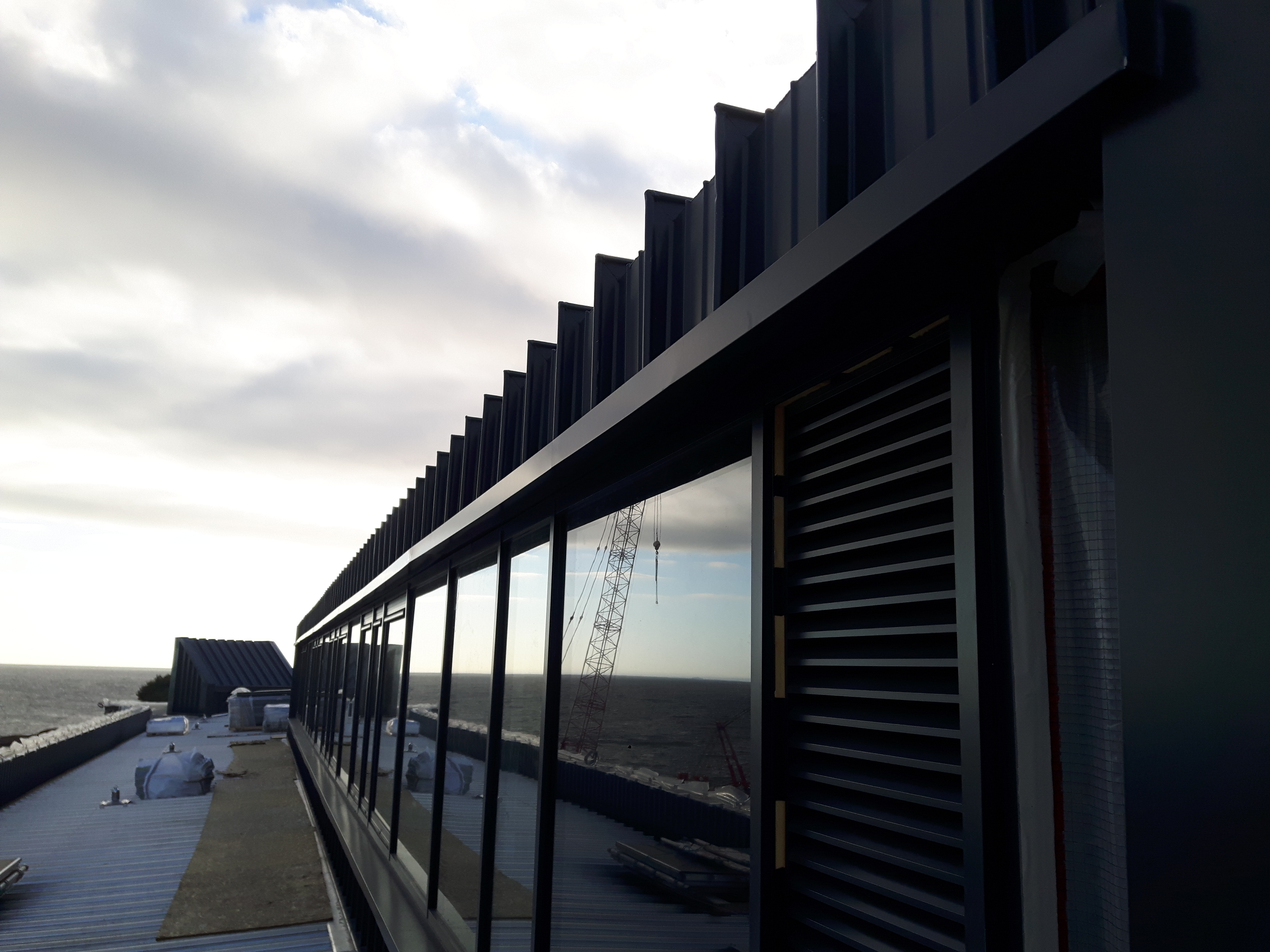 Brodick Ferry Terminal In Arran Curtis Moore Cladding